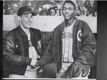 Bob Feller and Satchel Paige - 1946